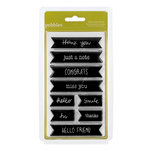 American Crafts - Pebbles - Sunnyside Collection - Clear Acrylic Stamps - Large