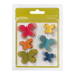 American Crafts - Pebbles - Sunnyside Collection - 3 Dimensional Butterflies