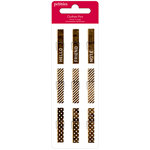 American Crafts - Pebbles - Walnut Grove Collection - Mini Clothes Pins