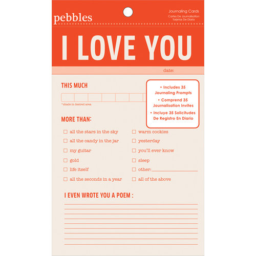 American Crafts - Pebbles - Seen and Noted Collection - 4 x 6 Journaling Cards