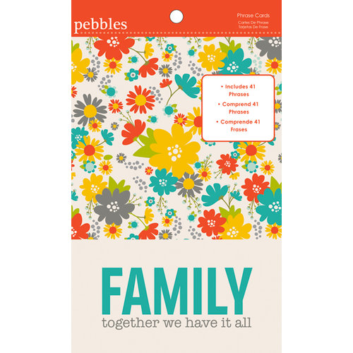 American Crafts - Pebbles - Seen and Noted Collection - 4 x 6 Phrase Cards