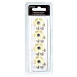 American Crafts - Pebbles - Basics Collection - Rhinestone Flowers - Cream