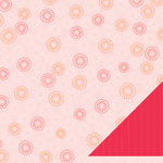 American Crafts - Pebbles - Happy Go Lucky Collection - 12 x 12 Double Sided Paper - Tickled Pink