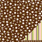 American Crafts - Pebbles - Floral Lane Collection - 12 x 12 Double Sided Textured Paper - Thanks A Bunch