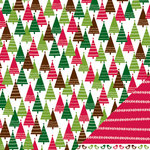 American Crafts - Pebbles - Welcome Christmas Collection - 12 x 12 Double Sided Paper - Trim The Tree