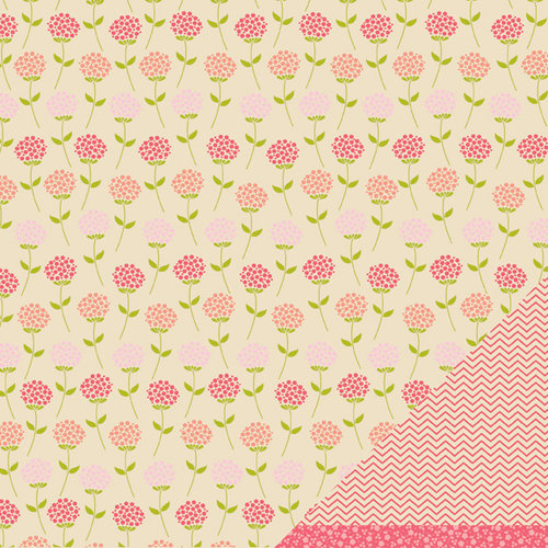 American Crafts - Pebbles - Country Picnic Collection - 12 x 12 Double Sided Kraft Paper - Orchard