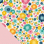 American Crafts - Pebbles - Sunnyside Collection - 12 x 12 Double Sided Paper - Blossoms