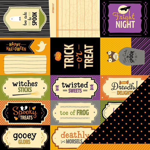 American Crafts - Pebbles - Tricks and Treats Collection - Halloween - 12 x 12 Double Sided Paper - Cauldron Ct.