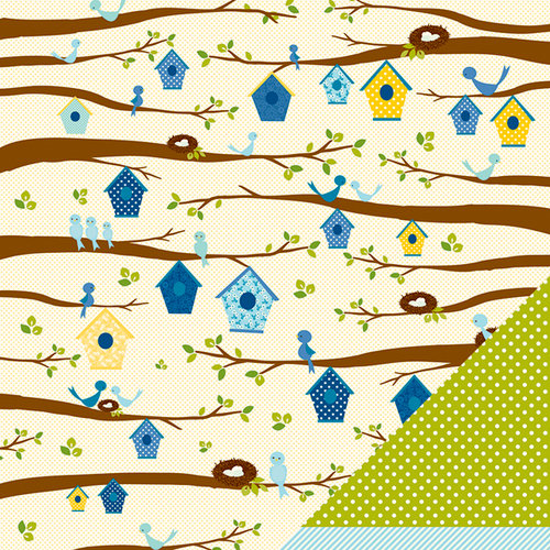 American Crafts - Pebbles - Family Ties Collection - 12 x 12 Double Sided Paper - Family