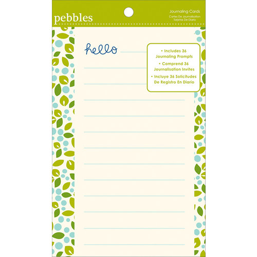 American Crafts - Pebbles - Family Ties Collection - Journaling Cards