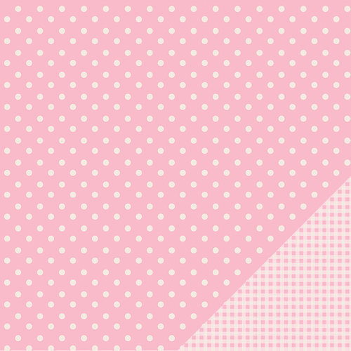 American Crafts - Pebbles - Basics Collection - 12 x 12 Double Sided Paper - Peony Dot