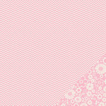 American Crafts - Pebbles - Basics Collection - 12 x 12 Double Sided Paper - Peony Chevron