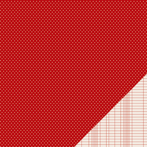 Pebbles - Basics Collection - 12 x 12 Double Sided Paper - Rouge Mini Dot