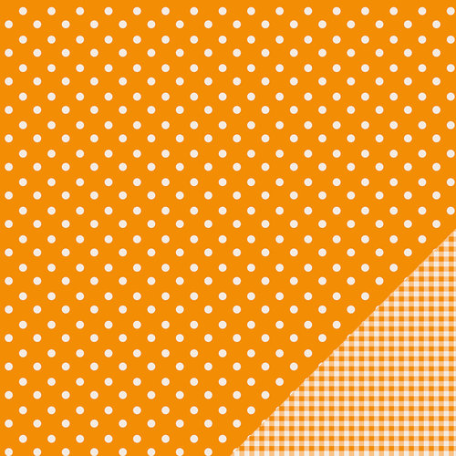 Pebbles - Basics Collection - 12 x 12 Double Sided Paper - Apricot Dot