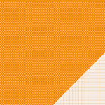 American Crafts - Pebbles - Basics Collection - 12 x 12 Double Sided Paper - Apricot Mini Dot