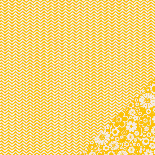 Pebbles - Basics Collection - 12 x 12 Double Sided Paper - Honeycomb Chevron