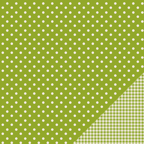 American Crafts - Pebbles - Basics Collection - 12 x 12 Double Sided Paper - Leaf Dot