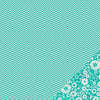 Pebbles - Basics Collection - 12 x 12 Double Sided Paper - Aqua Chevron