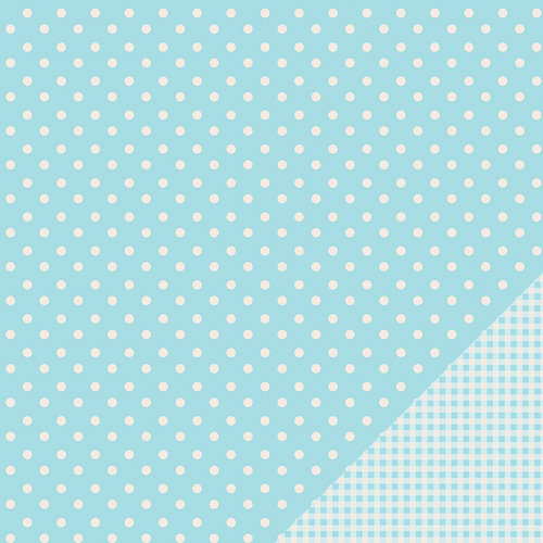 American Crafts - Pebbles - Basics Collection - 12 x 12 Double Sided Paper - Powder Dot
