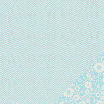 Pebbles - Basics Collection - 12 x 12 Double Sided Paper - Powder Chevron
