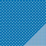 Pebbles - Basics Collection - 12 x 12 Double Sided Paper - Marine Dot