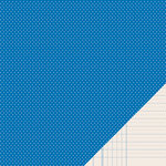 American Crafts - Pebbles - Basics Collection - 12 x 12 Double Sided Paper - Marine Mini Dot
