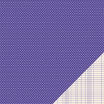 American Crafts - Pebbles - Basics Collection - 12 x 12 Double Sided Paper - Purple Mini Dot