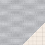 Pebbles - Basics Collection - 12 x 12 Double Sided Paper - Ash Mini Dot
