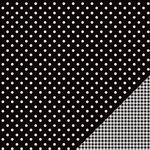 American Crafts - Pebbles - Basics Collection - 12 x 12 Double Sided Paper - Black Dot