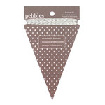 American Crafts - Pebbles - Basics Collection - Triangle Banner Kit - Ash