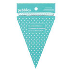 American Crafts - Pebbles - Basics Collection - Triangle Banner Kit - Aqua