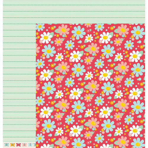 American Crafts - Pebbles - Love You More Collection - 12 x 12 Double Sided Paper - Tiffani