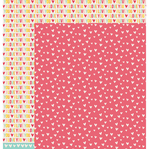 American Crafts - Pebbles - Love You More Collection - 12 x 12 Double Sided Paper - Emily