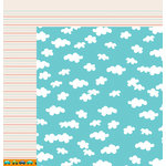 American Crafts - Pebbles - Love You More Collection - 12 x 12 Double Sided Paper - Andy