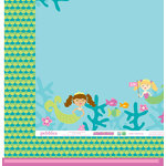 American Crafts - Pebbles - Party with Amy Locurto - 12 x 12 Double Sided Paper - Under The Sea