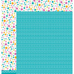 Pebbles - Party with Amy Locurto - 12 x 12 Double Sided Paper - Waves