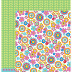 American Crafts - Pebbles - Party with Amy Locurto - 12 x 12 Double Sided Paper - Blossoms