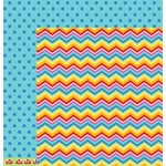 American Crafts - Pebbles - Party with Amy Locurto - 12 x 12 Double Sided Paper - Over The Rainbow