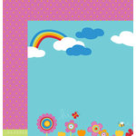 American Crafts - Pebbles - Party with Amy Locurto - 12 x 12 Double Sided Paper - Hello Sunshine