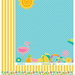 Pebbles - Party with Amy Locurto - 12 x 12 Double Sided Paper - Poolside