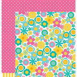 American Crafts - Pebbles - Party with Amy Locurto - 12 x 12 Double Sided Paper - Sunshine