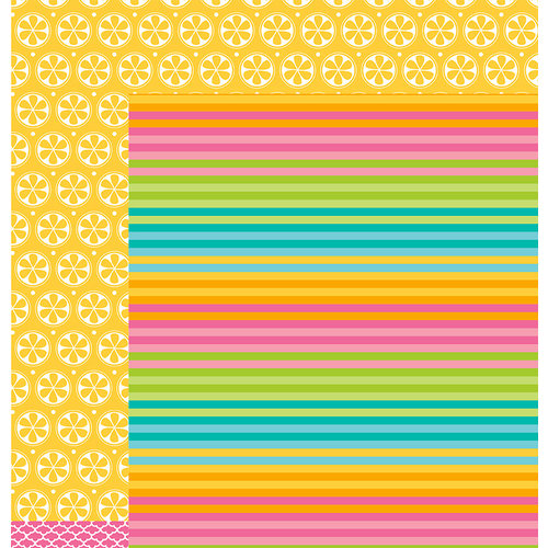 American Crafts - Pebbles - Party with Amy Locurto - 12 x 12 Double Sided Paper - Splash