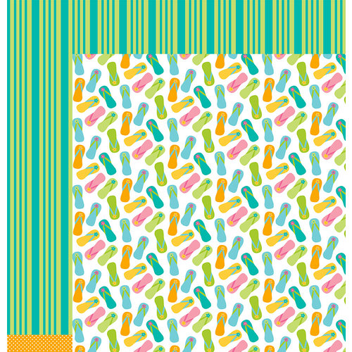 American Crafts - Pebbles - Party with Amy Locurto - 12 x 12 Double Sided Paper - WaterFun