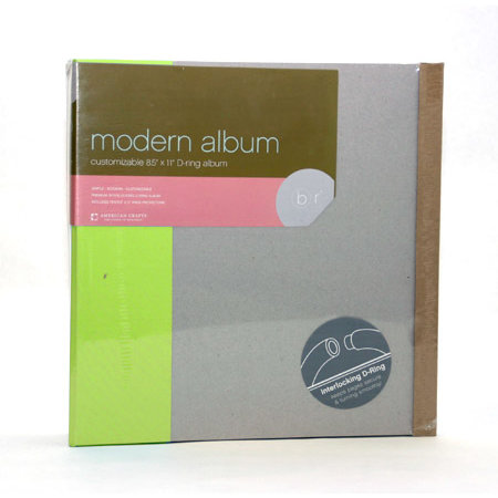 American Crafts - Modern Album - Customizable 8.5x11 D-Ring - Green