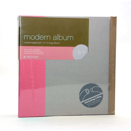 American Crafts - Modern Album - Customizable 8.5x11 D-Ring - Pink