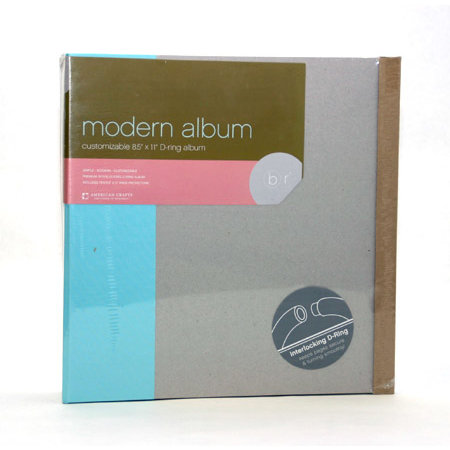 American Crafts - Modern Album - Customizable 8.5x11 D-Ring - Blue