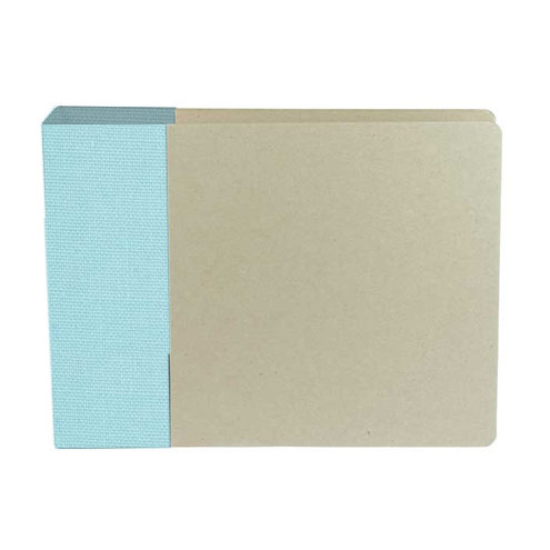 American Crafts - Modern Album - Customizable 6x6 D-Ring Album - Blue