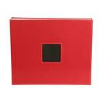 American Crafts - Leather Album - 12x12 - D-Ring - Red