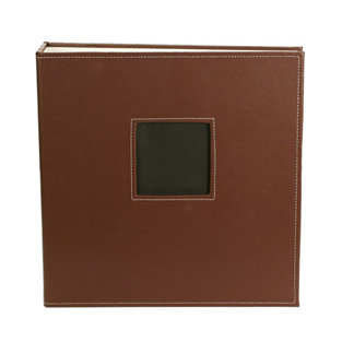 American Crafts - Leather Album - 8.5x11 - D-Ring - Brown