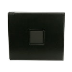 American Crafts - Leather Album - 12x12 - Post Bound - Black